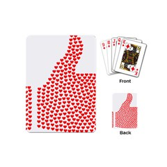 Heart Love Valentines Day Red Sign Playing Cards (mini)  by Alisyart