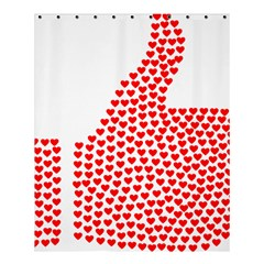 Heart Love Valentines Day Red Sign Shower Curtain 60  X 72  (medium)  by Alisyart
