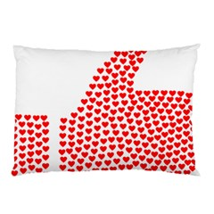 Heart Love Valentines Day Red Sign Pillow Case (two Sides) by Alisyart