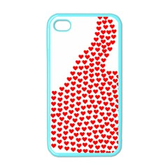 Heart Love Valentines Day Red Sign Apple Iphone 4 Case (color) by Alisyart