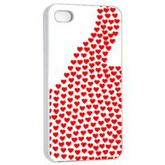 Heart Love Valentines Day Red Sign Apple Iphone 4/4s Seamless Case (white) by Alisyart