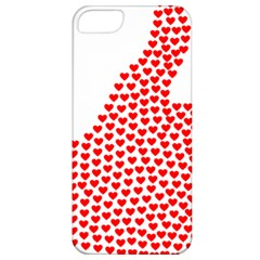 Heart Love Valentines Day Red Sign Apple Iphone 5 Classic Hardshell Case by Alisyart