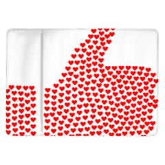 Heart Love Valentines Day Red Sign Samsung Galaxy Tab 10 1  P7500 Flip Case by Alisyart