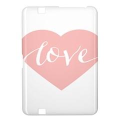 Love Valentines Heart Pink Kindle Fire Hd 8 9  by Alisyart