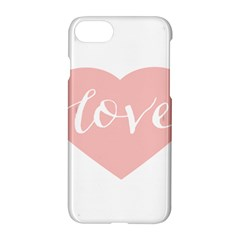 Love Valentines Heart Pink Apple Iphone 7 Hardshell Case by Alisyart
