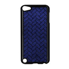Brick2 Black Marble & Blue Leather (r) Apple Ipod Touch 5 Case (black) by trendistuff