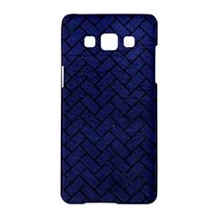 Brick2 Black Marble & Blue Leather (r) Samsung Galaxy A5 Hardshell Case  by trendistuff