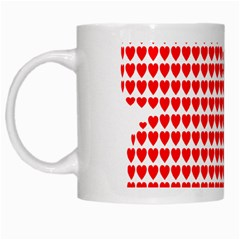 Hearts Butterfly Red Valentine Love White Mugs by Alisyart
