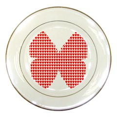 Hearts Butterfly Red Valentine Love Porcelain Plates by Alisyart