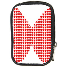 Hearts Butterfly Red Valentine Love Compact Camera Cases by Alisyart