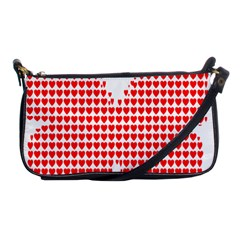 Hearts Butterfly Red Valentine Love Shoulder Clutch Bags by Alisyart