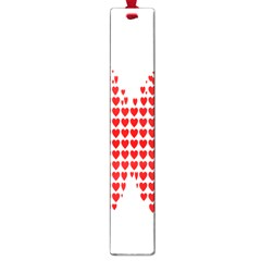 Hearts Butterfly Red Valentine Love Large Book Marks by Alisyart