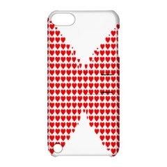 Hearts Butterfly Red Valentine Love Apple Ipod Touch 5 Hardshell Case With Stand by Alisyart