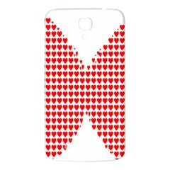 Hearts Butterfly Red Valentine Love Samsung Galaxy Mega I9200 Hardshell Back Case by Alisyart
