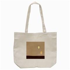 Minimalist Circle Sun Gray Brown Tote Bag (cream) by Alisyart