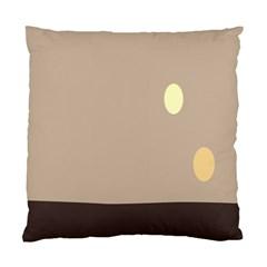 Minimalist Circle Sun Gray Brown Standard Cushion Case (one Side) by Alisyart