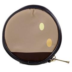 Minimalist Circle Sun Gray Brown Mini Makeup Bags by Alisyart