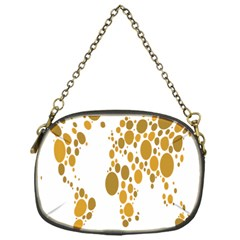 Map Dotted Gold Circle Chain Purses (one Side)  by Alisyart