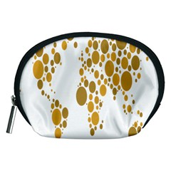 Map Dotted Gold Circle Accessory Pouches (medium)  by Alisyart