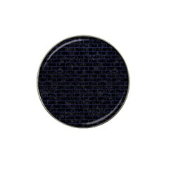 Brick1 Black Marble & Blue Leather Hat Clip Ball Marker (10 Pack) by trendistuff