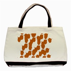 Machovka Autumn Leaves Brown Basic Tote Bag (two Sides) by Alisyart