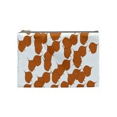 Machovka Autumn Leaves Brown Cosmetic Bag (medium)  by Alisyart
