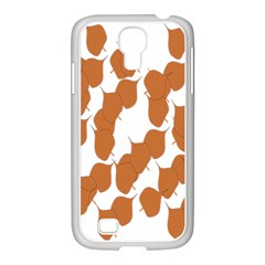 Machovka Autumn Leaves Brown Samsung Galaxy S4 I9500/ I9505 Case (white) by Alisyart
