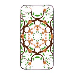 Floral Tree Leaf Flower Star Apple Iphone 4/4s Seamless Case (black) by Alisyart