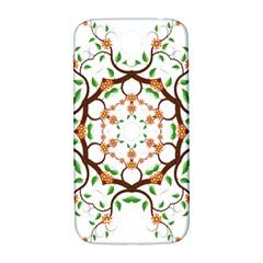 Floral Tree Leaf Flower Star Samsung Galaxy S4 I9500/i9505  Hardshell Back Case by Alisyart