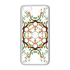 Floral Tree Leaf Flower Star Apple Iphone 5c Seamless Case (white) by Alisyart