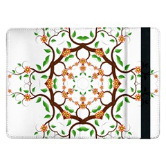 Floral Tree Leaf Flower Star Samsung Galaxy Tab Pro 12 2  Flip Case by Alisyart