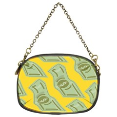 Money Dollar $ Sign Green Yellow Chain Purses (two Sides)  by Alisyart