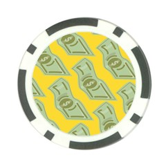 Money Dollar $ Sign Green Yellow Poker Chip Card Guard (10 Pack) by Alisyart
