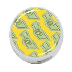 Money Dollar $ Sign Green Yellow 4 Port Usb Hub (one Side) by Alisyart