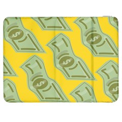 Money Dollar $ Sign Green Yellow Samsung Galaxy Tab 7  P1000 Flip Case by Alisyart