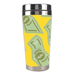 Money Dollar $ Sign Green Yellow Stainless Steel Travel Tumblers by Alisyart