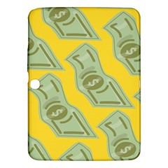 Money Dollar $ Sign Green Yellow Samsung Galaxy Tab 3 (10 1 ) P5200 Hardshell Case  by Alisyart