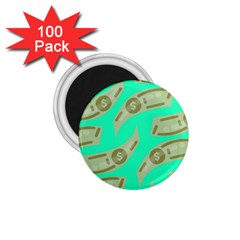 Money Dollar $ Sign Green 1 75  Magnets (100 Pack)  by Alisyart