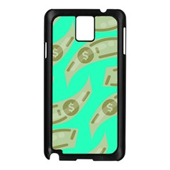 Money Dollar $ Sign Green Samsung Galaxy Note 3 N9005 Case (Black)