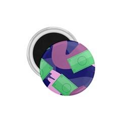 Money Dollar Green Purple Pink 1 75  Magnets by Alisyart