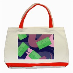 Money Dollar Green Purple Pink Classic Tote Bag (red) by Alisyart