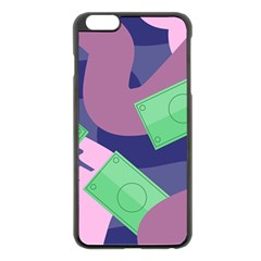 Money Dollar Green Purple Pink Apple Iphone 6 Plus/6s Plus Black Enamel Case by Alisyart