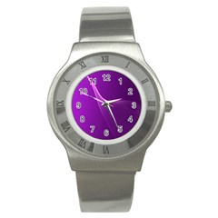 Purple Line Stainless Steel Watch by Alisyart