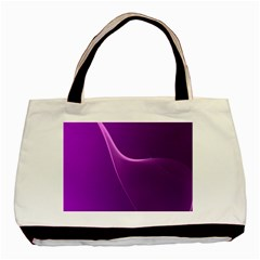 Purple Line Basic Tote Bag (two Sides) by Alisyart