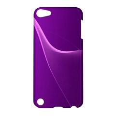 Purple Line Apple Ipod Touch 5 Hardshell Case by Alisyart