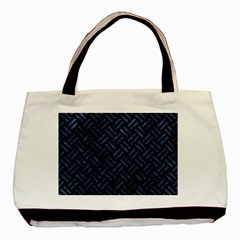 Woven2 Black Marble & Blue Stone Basic Tote Bag (two Sides) by trendistuff