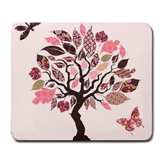 Tree Butterfly Insect Leaf Pink Large Mousepads by Alisyart