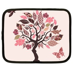 Tree Butterfly Insect Leaf Pink Netbook Case (xxl)  by Alisyart