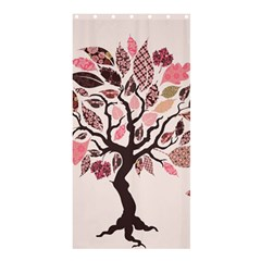 Tree Butterfly Insect Leaf Pink Shower Curtain 36  X 72  (stall)  by Alisyart