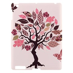 Tree Butterfly Insect Leaf Pink Apple Ipad 3/4 Hardshell Case by Alisyart